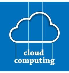 Cloud computing template vector image