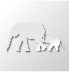 Elephants mom and son care vector