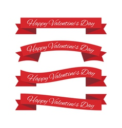 Valentines day ribbons vector