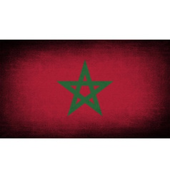 Flag of morocco with old texture vector