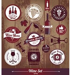 wine vintage vector image