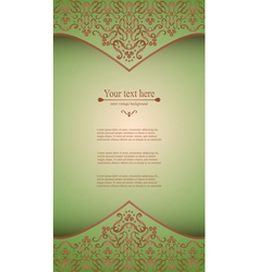 Design background with ornate floral pattern vector