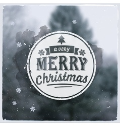 Merry christmas creative graphic message for vector
