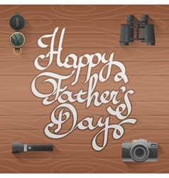 Happy father day lettering vector