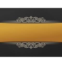 Banner islam ethnic design Gold Invitation vector image