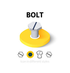 Bolt icon in different style vector image