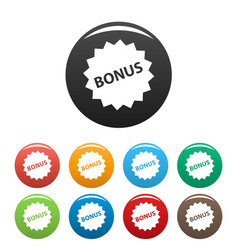 bonus sign icons set vector image vector image