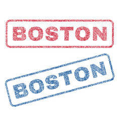 Boston textile stamps vector