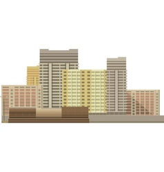 building on a white background vector image vector image