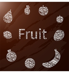 chalk fruit vector image