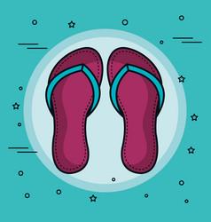 Colorful flip flops design vector