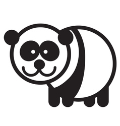 Cute animal panda - vector image vector image