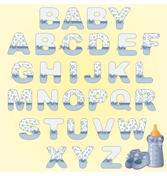 Cute baby alphabet vector image