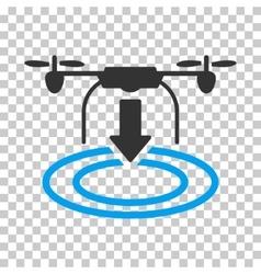Drone Landing Icon vector image vector image