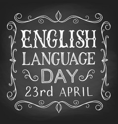 english language day vector image
