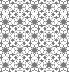 Grey seamless stylized flower pattern in oriental vector