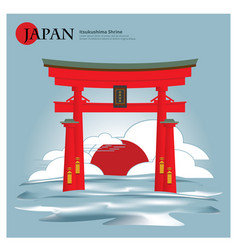 itsukushima shrine japan landmark vector image vector image
