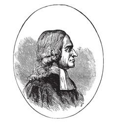 John wesley vintage vector