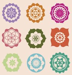 Life seed mandalas designs vector