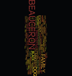 Meet the beauceron text background word cloud vector