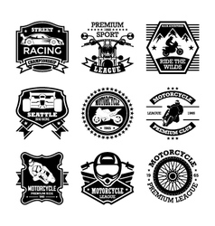 Motor sport badges vector