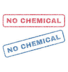 No chemical textile stamps vector