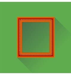 Orange wooden frame vector