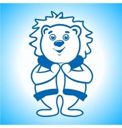 Polar bear eskimo sign vector