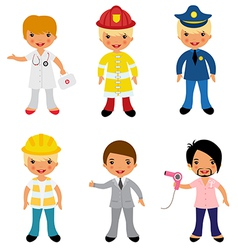 Professional occupations 2 vector image vector image