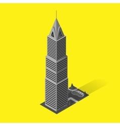 Skyscrapers House Building Icon vector image vector image
