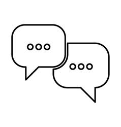 Speech bubles line icon vector image vector image