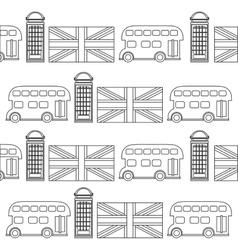 Telephone bus flag of london design vector