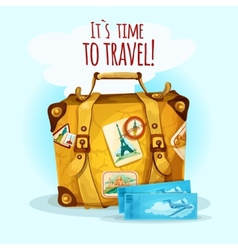 Travel Concept With Suitcase vector image
