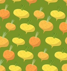 Yellow turnip pattern Seamless background with vector image