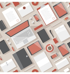 seamless objects plain turned red vector image