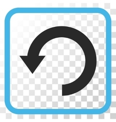 Rotate down icon in a frame vector