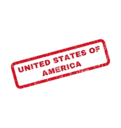 United states of america rubber stamp vector