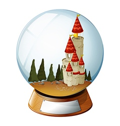 Castle crystal ball vector