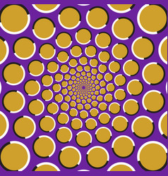 circles are moving circularly from the center vector image