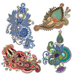 Ornate flower design vector