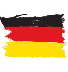 German grunge flag vector