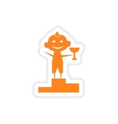 Icon sticker realistic design on paper child vector