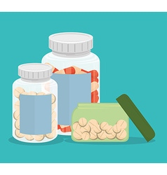 Medical medicine pills vector