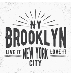 Brooklyn vintage stamp vector
