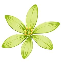 A green flower vector