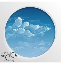 Abstract round shape with frame vector