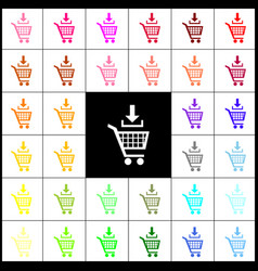 Add to shopping cart sign felt-pen 33 vector