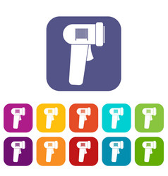Barcode scanner icons set vector