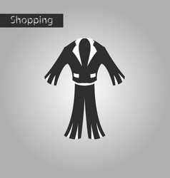 black and white style icon men suit vector image vector image