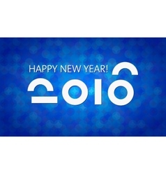 Blue 2016 New Year Banner vector image